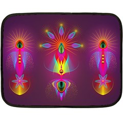 Abstract Bright Colorful Background Double Sided Fleece Blanket (mini)