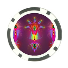 Abstract Bright Colorful Background Poker Chip Card Guard (10 Pack)