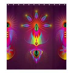 Abstract Bright Colorful Background Shower Curtain 66  X 72  (large)