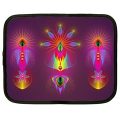 Abstract Bright Colorful Background Netbook Case (xl)