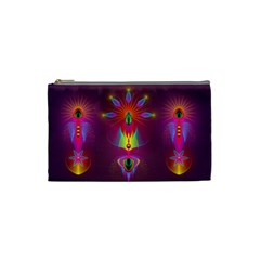 Abstract Bright Colorful Background Cosmetic Bag (small)
