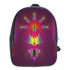 Abstract Bright Colorful Background School Bag (large)