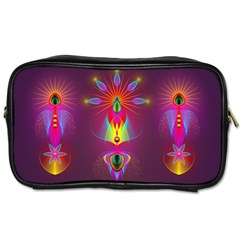 Abstract Bright Colorful Background Toiletries Bags