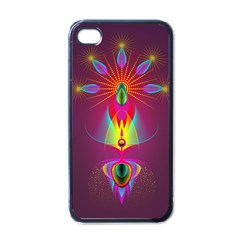 Abstract Bright Colorful Background Apple Iphone 4 Case (black)