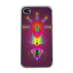 Abstract Bright Colorful Background Apple Iphone 4 Case (clear)