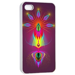 Abstract Bright Colorful Background Apple Iphone 4/4s Seamless Case (white)