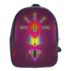 Abstract Bright Colorful Background School Bag (xl)