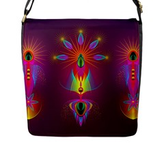 Abstract Bright Colorful Background Flap Messenger Bag (l)