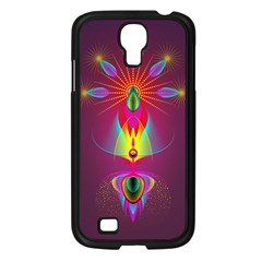 Abstract Bright Colorful Background Samsung Galaxy S4 I9500/ I9505 Case (black)