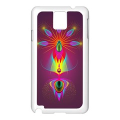 Abstract Bright Colorful Background Samsung Galaxy Note 3 N9005 Case (white)