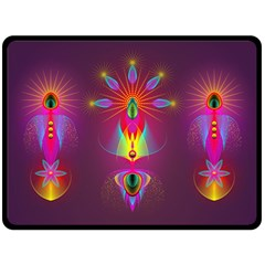 Abstract Bright Colorful Background Double Sided Fleece Blanket (large)  by Nexatart