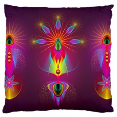 Abstract Bright Colorful Background Large Flano Cushion Case (two Sides)