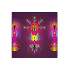 Abstract Bright Colorful Background Satin Bandana Scarf