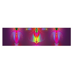 Abstract Bright Colorful Background Satin Scarf (oblong)