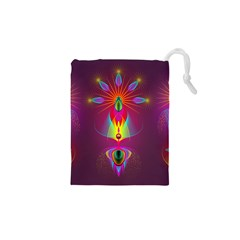Abstract Bright Colorful Background Drawstring Pouches (xs)