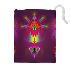 Abstract Bright Colorful Background Drawstring Pouches (extra Large)