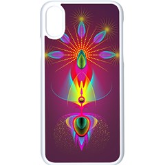 Abstract Bright Colorful Background Apple Iphone X Seamless Case (white)