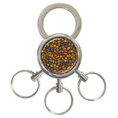 Pattern Background Ethnic Tribal 3 Ring Key Chains