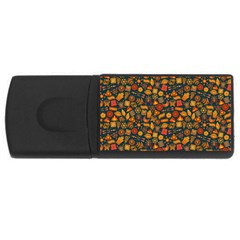 Pattern Background Ethnic Tribal Rectangular Usb Flash Drive