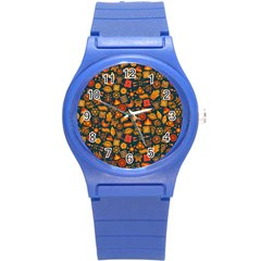 Pattern Background Ethnic Tribal Round Plastic Sport Watch (s)