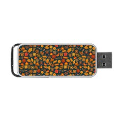 Pattern Background Ethnic Tribal Portable Usb Flash (two Sides)
