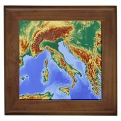 Italy Alpine Alpine Region Map Framed Tiles