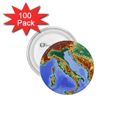 Italy Alpine Alpine Region Map 1 75  Buttons (100 Pack)