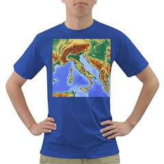 Italy Alpine Alpine Region Map Dark T Shirt