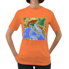 Italy Alpine Alpine Region Map Women s Dark T Shirt