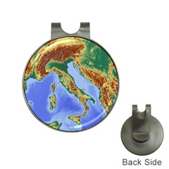 Italy Alpine Alpine Region Map Hat Clips With Golf Markers