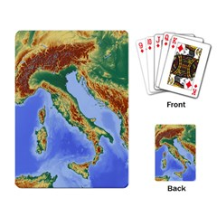 Italy Alpine Alpine Region Map Playing Card