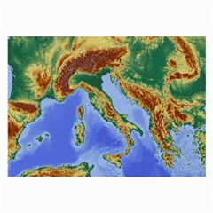 Italy Alpine Alpine Region Map Large Glasses Cloth (2 Side) by Nexatart