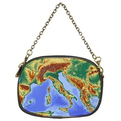 Italy Alpine Alpine Region Map Chain Purses (two Sides)