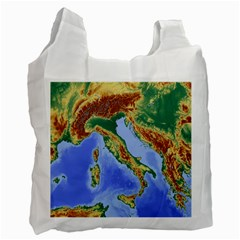 Italy Alpine Alpine Region Map Recycle Bag (two Side)
