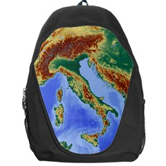 Italy Alpine Alpine Region Map Backpack Bag