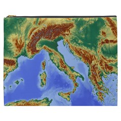 Italy Alpine Alpine Region Map Cosmetic Bag (xxxl)