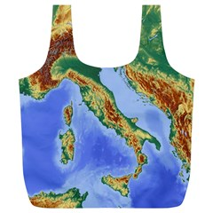 Italy Alpine Alpine Region Map Full Print Recycle Bags (l)