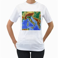 Italy Alpine Alpine Region Map Women s T Shirt (white)