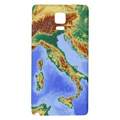 Italy Alpine Alpine Region Map Galaxy Note 4 Back Case