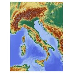 Italy Alpine Alpine Region Map Drawstring Bag (large)