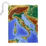 Italy Alpine Alpine Region Map Drawstring Pouches (XXL) Back