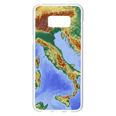 Italy Alpine Alpine Region Map Samsung Galaxy S8 Plus White Seamless Case