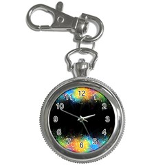 Frame Border Feathery Blurs Design Key Chain Watches