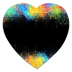 Frame Border Feathery Blurs Design Jigsaw Puzzle (heart)