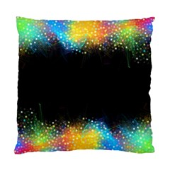Frame Border Feathery Blurs Design Standard Cushion Case (two Sides)