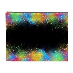 Frame Border Feathery Blurs Design Cosmetic Bag (xl)