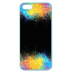 Frame Border Feathery Blurs Design Apple Seamless Iphone 5 Case (color)