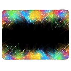 Frame Border Feathery Blurs Design Samsung Galaxy Tab 7  P1000 Flip Case