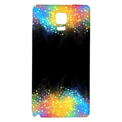 Frame Border Feathery Blurs Design Galaxy Note 4 Back Case