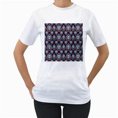 Seamless Pattern Pattern Women s T Shirt (white) (two Sided)